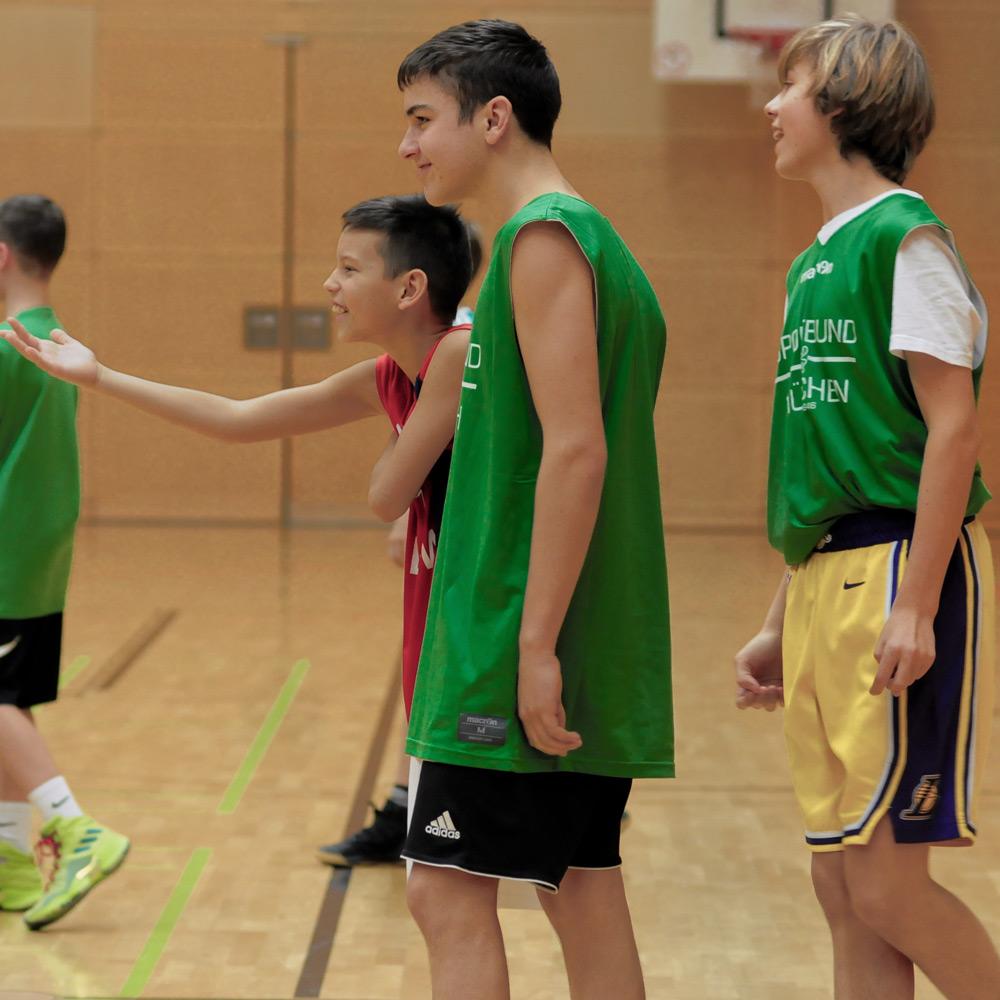 U14 Spieler beim Basketball & Mind Camp